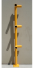 Handrail Corner Post - Osha - 3 Horizontals -- HR-CP3