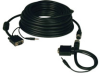 High Resolution SVGA/VGA Monitor Easy Pull Cable with Audio and RGB coax (HD15 M/M) 50-ft. -- P504-050-EZ