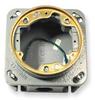 Floor Box,Brass Collar,Cast Iron -- 2EML6