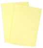 NuTrend M-E7500 Yellow Cleaning Wipe - Flat Sheet - 13 in Overall Length - 16 in Width - NUTREND M-E7500 -- NUTREND M-E7500