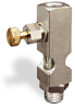 "(Formerly B1631-3X00), Straight Small Sight Feed Valve, 1/8"" Female NPT Inlet, 1/8"" Male NPT Outlet, Handwheel -- B1628-412B1HW -Image"
