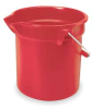 10 Qt Round Bucket-Red -- 5M792 - Image