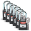 Brady Black Nylon Steel 6-pin Keyed & Safety Padlock 51353 - 1 1/2 in Width - 1 3/4 in Height - 1/4 in Shackle Diameter - 1 Key(s) Included - 754476-51353 -- 754476-51353