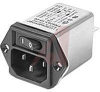 FILTER, POWER ENTRY MODULE W/MAINS SWITCH, 10A, 373UH, 0.2MH, FASTON CONNECTIONS -- 70027308 - Image