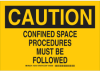 Confined Space Sign -- 126737