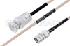 MIL-DTL-17 BNC Male to SMA Male Cable 100 cm Length Using M17/113-RG316 Coax -- PE3M0086-100CM -Image
