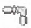 37 Flared SAE Fitting - JBUE Bulkhead Union Elbow - Image