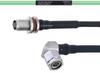 Temperature Conditioned Low Loss TNC Female Bulkhead to RA TNC Male Cable LL160 Coax in 24 Inch -- FMHR0211-24 -Image
