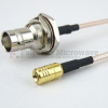 SMB Plug to BNC Female Bulkhead Cable RG-316 Coax in 12 Inch and RoHS -- FMC1638315LF-12 -Image