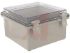 Enclosure; ABS/PC Blended Plastic; Polycarbonate Cover; Clear; NEMA -- 70148563