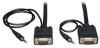 VGA Coax Monitor Cable with audio, High Resolution cable with RGB coax (HD15 and 3.5mm M/M) 35-ft. -- P504-035