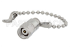 1 Watt RF Load with Chain Up to 65 GHz with 1.85mm Male Passivated Stainless Steel -- PE6236 -- View Larger Image