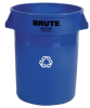 Rubbermaid Brute 32 Gallon Round Recycling Container & Dolly -- 8771