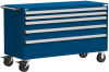 Heavy-Duty Mobile Cabinet, with Partitions -- R5BKE-3031 -Image