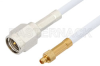 SMA Male to MMCX Plug Cable 60 Inch Length Using RG188 Coax -- PE34887-60 -Image
