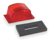 Small Square PC-Rated Lamp,Red -- 46092