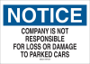 Brady B-120 Fiberglass Reinforced Polyester Rectangle White Parking Security Sign - 14 in Width x 10 in Height - 69050 -- 754476-69050