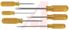 Screwdriver Set, Round Blade: 1/8