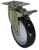 Stainless Swivel Caster with Total Locking Brake - Model 3A -- SS-3ABK5-SML