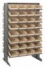 Bins & Systems - 4'' Shelf Bins (QSB Series) - Sloped Shelving Units - Double Sided Pick Racks - QPRD-107 - Image