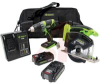 DRILL/DRIVER & SAW COMBO KIT WITH 14.4VLI-ION BATTTERIES, CHARGER AND MULTI-POC -- 70160462