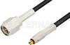 SMA Male to MC-Card Plug Cable 72 Inch Length Using RG174 Coax -- PE36112-72 -Image