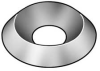 Countersunk Washer,Nickel,Fits #10,Pk100 -- 6FDH4 - Image