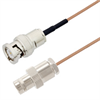 BNC Male to BNC Female Cable Assembly using RG178 Coax, 10 FT -- LCCA30056-FT10 -Image