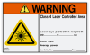 Class 4 WARNING Sign - Laser Controlled Area