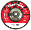 Weiler Saber Tooth Type 29 Non-Woven Ceramic Flap Disc - Very Coarse Grade - 7 in Diameter - 5/8 in Center Hole - 50112 -- 012382-50112