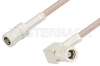 SMB Plug to SMB Plug Right Angle Cable 36 Inch Length Using RG316 Coax, RoHS -- PE33672LF-36 -Image