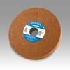 3M Scotch-Brite CP-WL Aluminum Oxide Medium Deburring Wheel - Coarse Grade - Arbor Attachment - 6 in Diameter - 1 in Center Hole - Thickness 1 in - 03263 -- 048011-03263 - Image