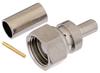 75 Ohm SMC Plug (Male) Connector for PE-B150, RG180, RG195 Cable, Crimp/Solder -- FMCN1549 -Image