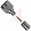 connector,rf coaxial,n str crimp plug,captive cont,for rg214 cable,50 ohm -- 70031768