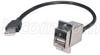 USB Type A Coupler, Female Bulkhead/Latching Male, 24