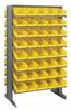 Bins & Systems - 4'' Shelf Bins (QSB Series) - Sloped Shelving Units - Double Sided Pick Racks - QPRD-102 - Image