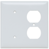 Combination Openings, 1 Blank & 1 Duplex Receptacle -- SP148W - Image