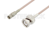 10-32 Male to BNC Male Cable 72 Inch Length Using RG316 Coax, LF Solder, RoHS -- PE3C3424LF-72 -Image