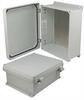 12x10x5 Inch UL® Listed Weatherproof NEMA 4X Enclosure w/Aluminum Mount Plate, Non-Metallic Hinges -- NBN121005-KIT -Image