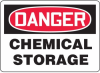 Danger Chemical Storage Sign -- SGN542 -Image
