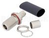 N Female Bulkhead Mount Connector Crimp/Non-Solder Contact Attachment for LMR-400, PE-C400, PE-B400, PE-B405 -- EZ-400-NF-BH -- View Larger Image