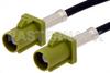 Curry FAKRA Plug to FAKRA Plug Cable 36 Inch Length Using PE-C100-LSZH Coax -- PE38747K-36 -Image