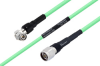 Temperature Conditioned TNC Male Right Angle to N Male Low Loss Cable 12 Inch Length Using PE-P300LL Coax -- PE3M0244-12 -Image
