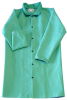Chicago Protective Apparel Green Large FR-7A Cotton/Proban Welding & Heat-Resistant Coat - 40 in Length - 601-GR LG -- 601-GR LG - Image