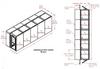5-Unit Tunnel Low Profile Single Door Air Shower -- CAP701LP-ST5-49306