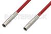 75 Ohm Mini SMB Plug to 75 Ohm Mini SMB Plug Cable 12 Inch Length Using 75 Ohm PE-B159-RD Red Coax -- PE38139/RD-12 -Image