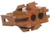 Connector, Soft Shell; 250 V; 9 A (Max.); 2; Nylon; Brick Red; In-Line; Plug -- 70083740