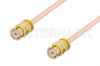 SMP Female to SMP Female Cable 12 Inch Length Using PE-047SR Coax, RoHS -- PE36146LF-12 -Image