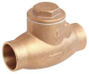 Swing Check Valve,1In,Solder,Bronze -- 10F309