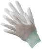 Antistatic Gloves,L,Nylon/Copper Fiber -- 19L041